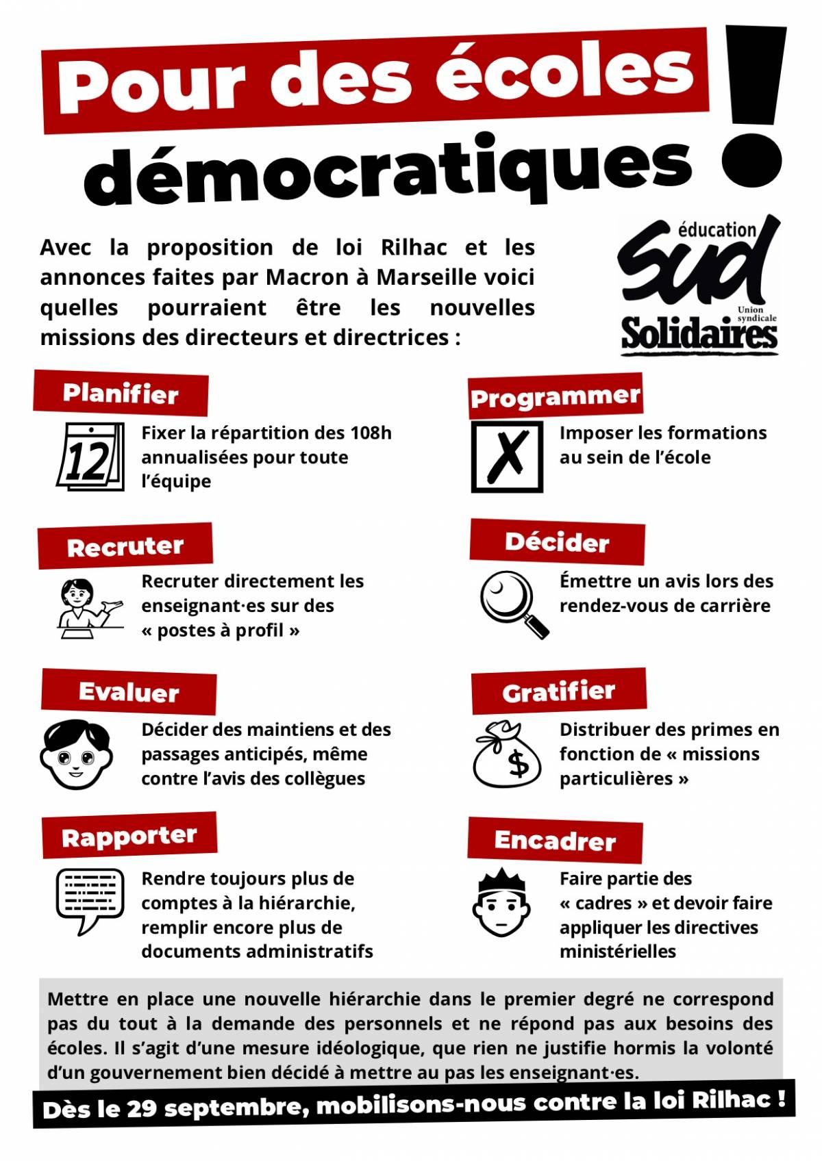 Pour des écoles démocratiques !